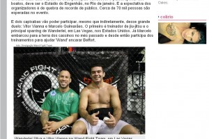 utadores capixabas treinam a lenda Wanderlei Silva para duelo contra Vitor Belfort