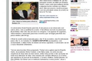 Gazeta Online Vitor Vianna 03-11-2011